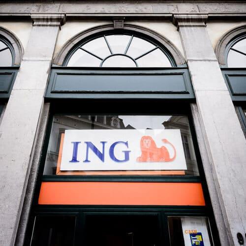Façade de la banque ING des Galeries Royales Saint-Hubert